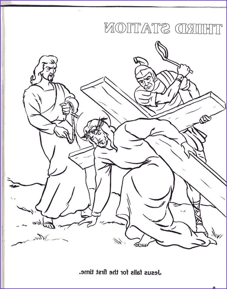 Stations Of the Cross Coloring Pages Beautiful Image Coloring Stations