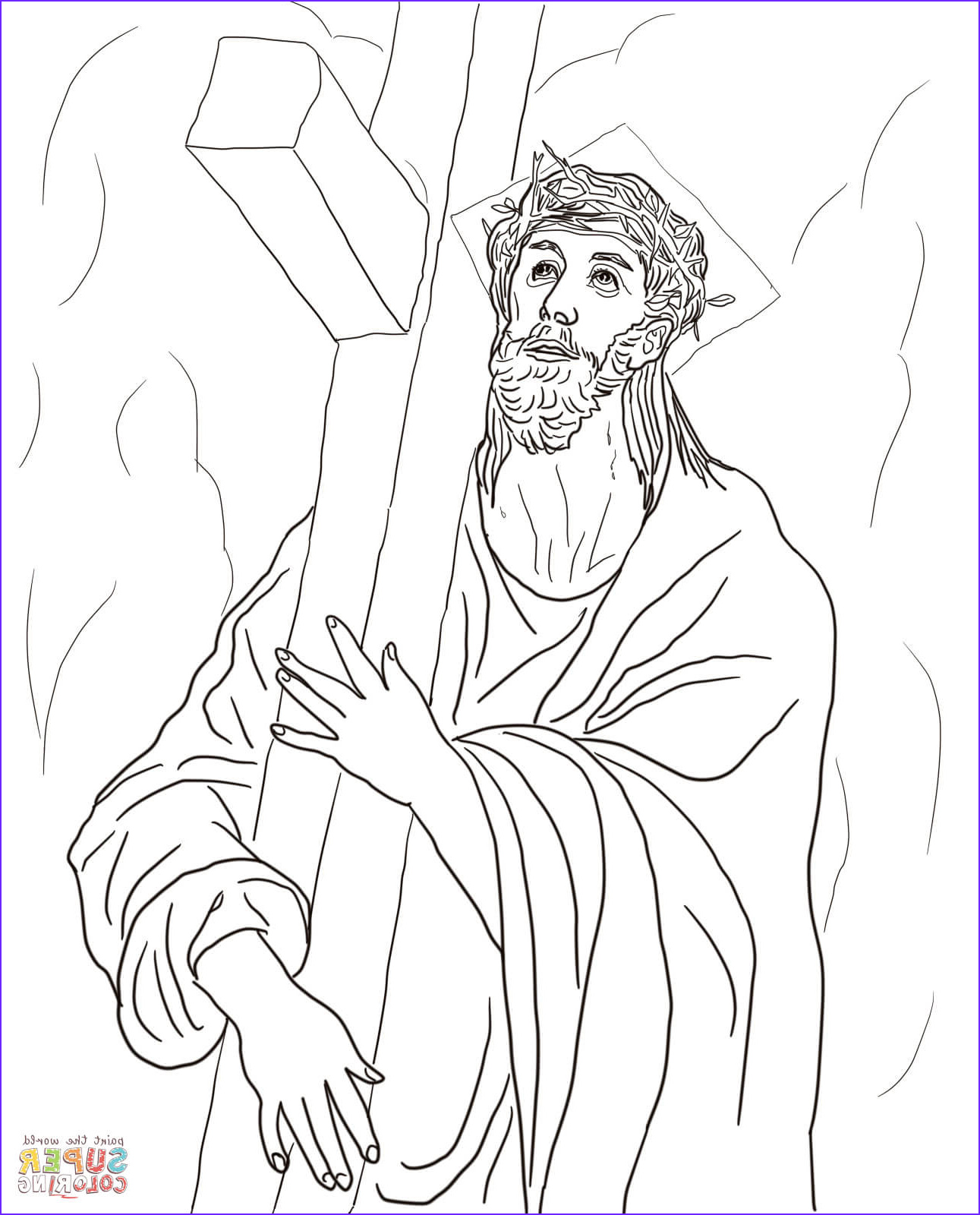 Stations Of the Cross Coloring Pages New Photography Second Station Jesus Carries His Cross Coloring Page