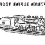Steam Train Coloring Pages Beautiful Gallery Steam Engine Train On Railroad Coloring Page