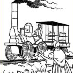 Steam Train Coloring Pages Cool Gallery Steam Train In Early American Coloring Page Netart