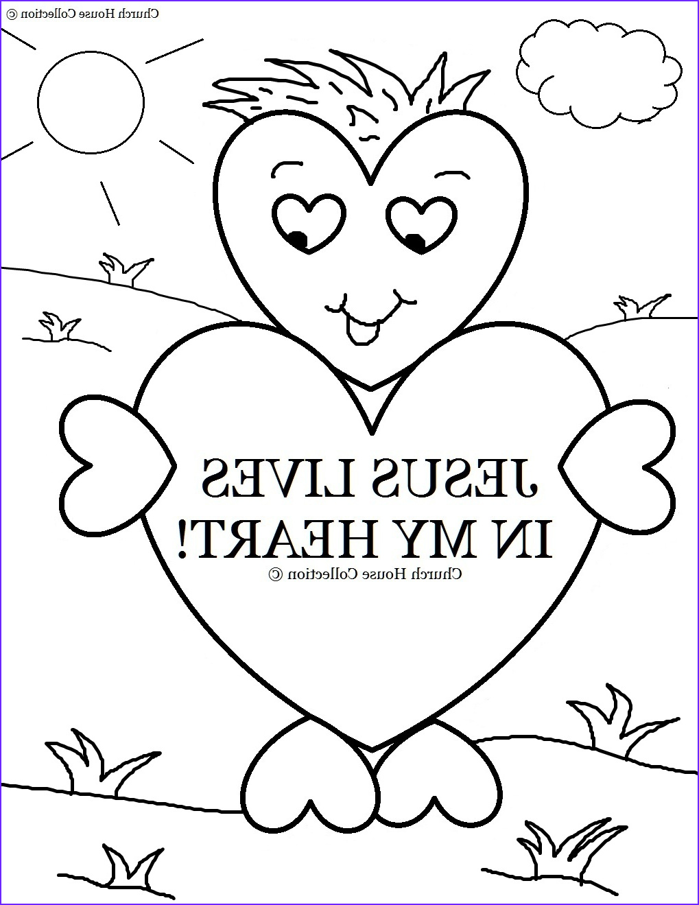 jesus lives in my heart coloring page