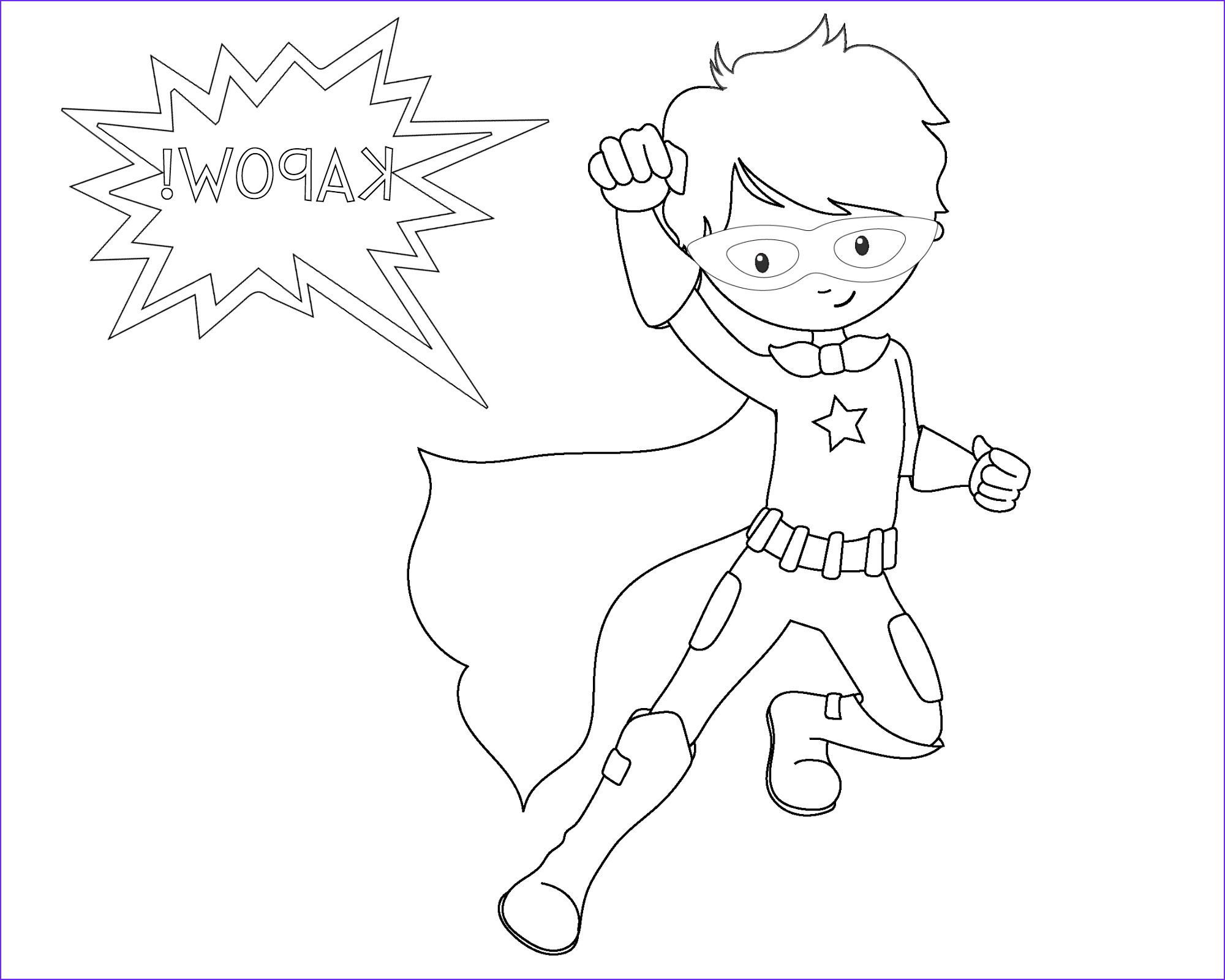 Free Printable Superhero Coloring Sheets for Kids Crazy