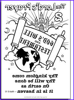 The Lords Prayer Coloring Page 2 God & Bible