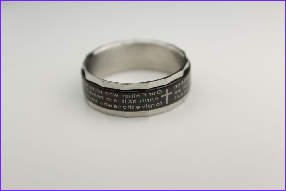 Lord s PRAYER Our Father Spinner ring English Jesus Christ