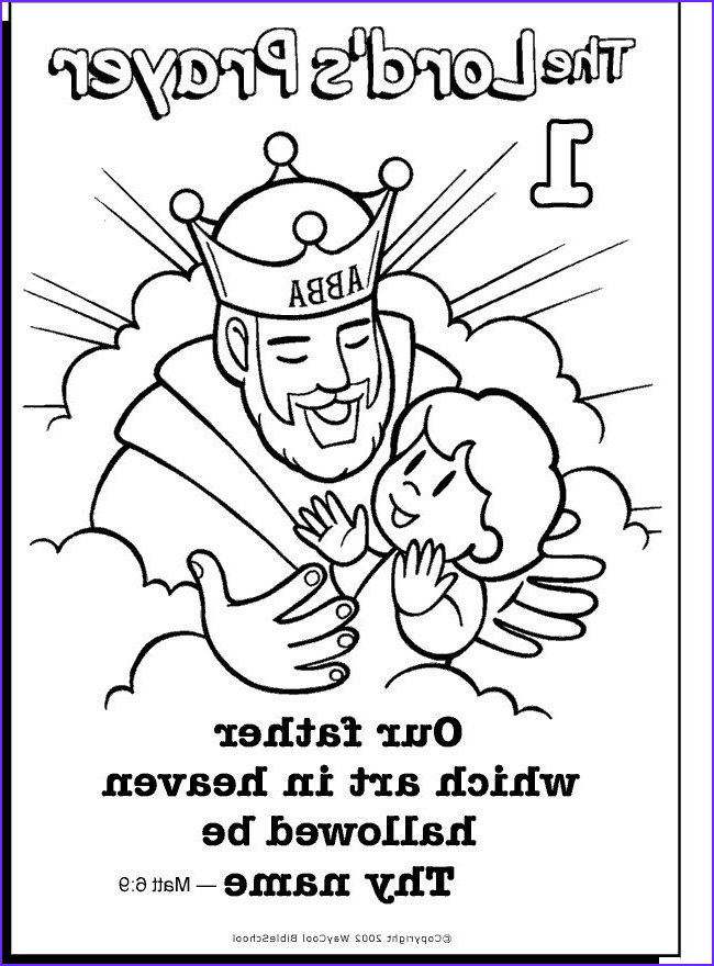 free printable lords prayer coloring pages