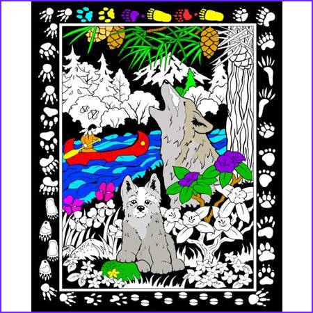 Velvet Coloring Posters Adults Luxury Photos Howling Wolf Fuzzy Velvet Coloring Poster 16x20 Inches