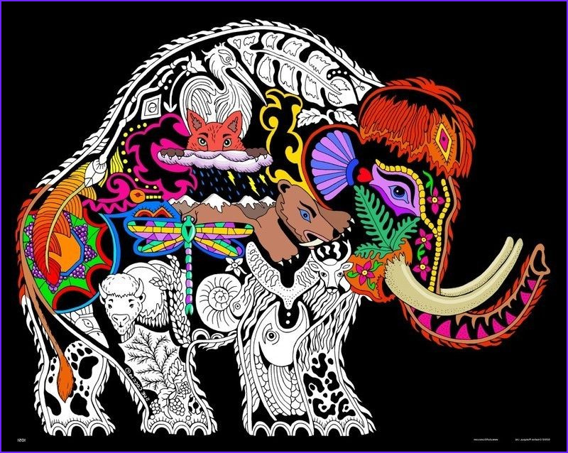 Velvet Coloring Posters Best Of Photos Wooly Mammoth 16x20 Inch Fuzzy Velvet Coloring