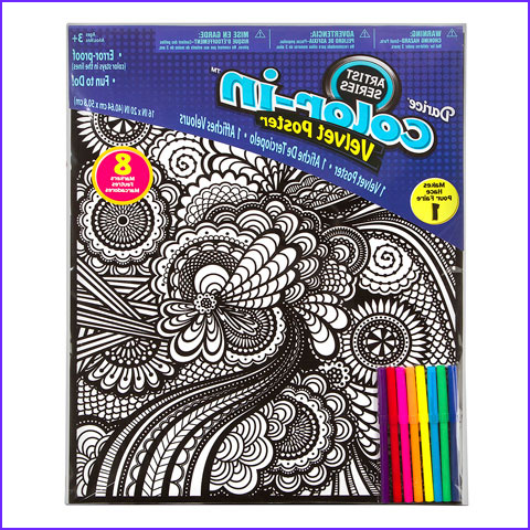 Velvet Coloring Posters New Collection Geometric Velvet Coloring Posters for Kids Crafting