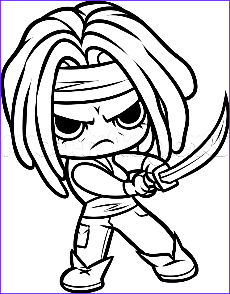 Walking Dead Coloring Pages Beautiful Photos How to Draw Chibi Michonne From the Walking Dead Step 12