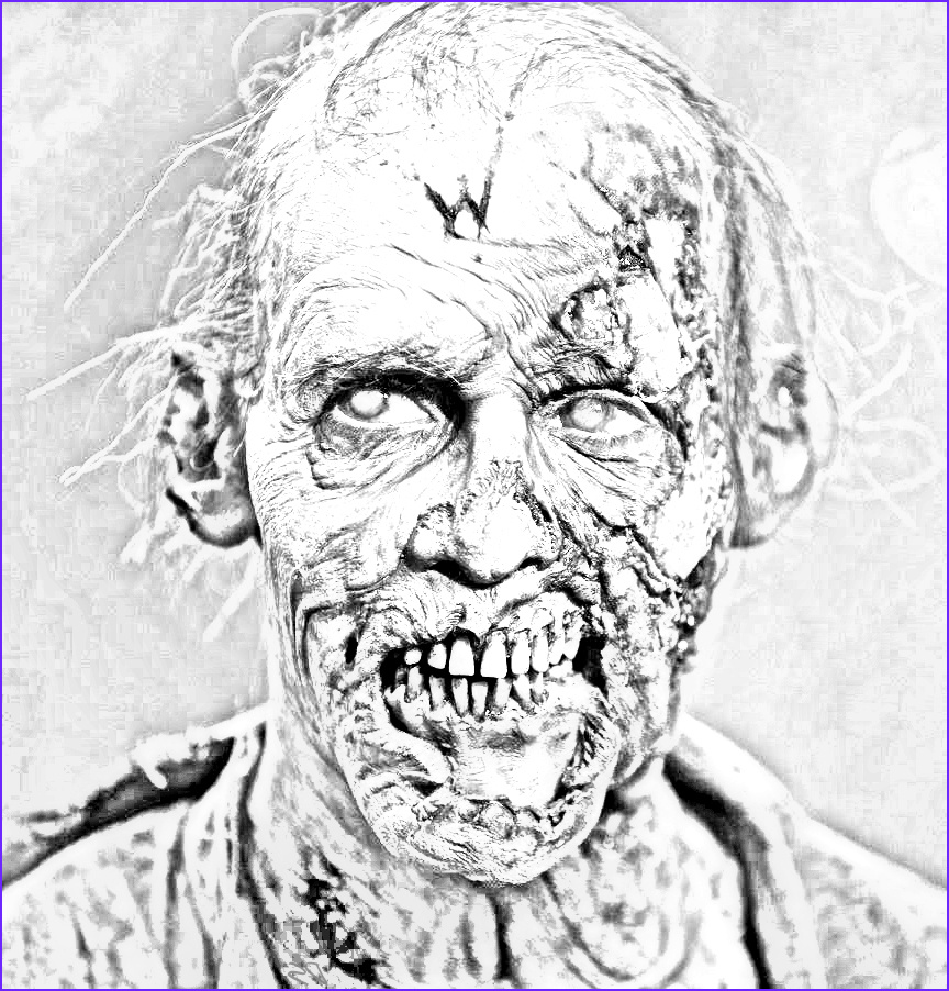 The Walking Dead Coloring Pages Walker The Walking