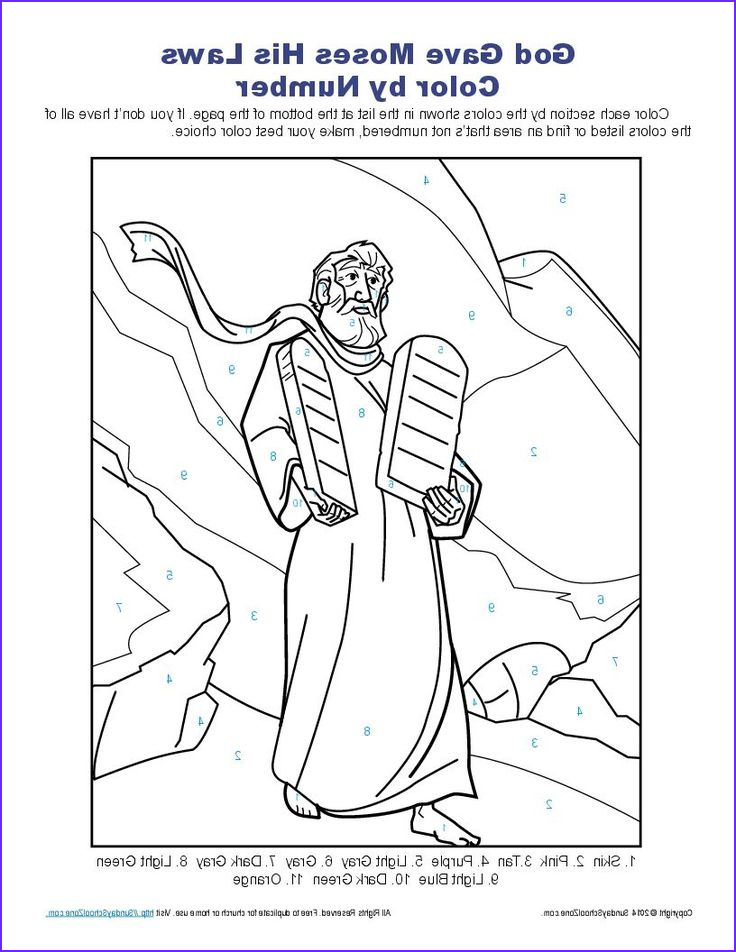 10 Commandments Coloring Pages Awesome Image Ten Mandments Color by Number