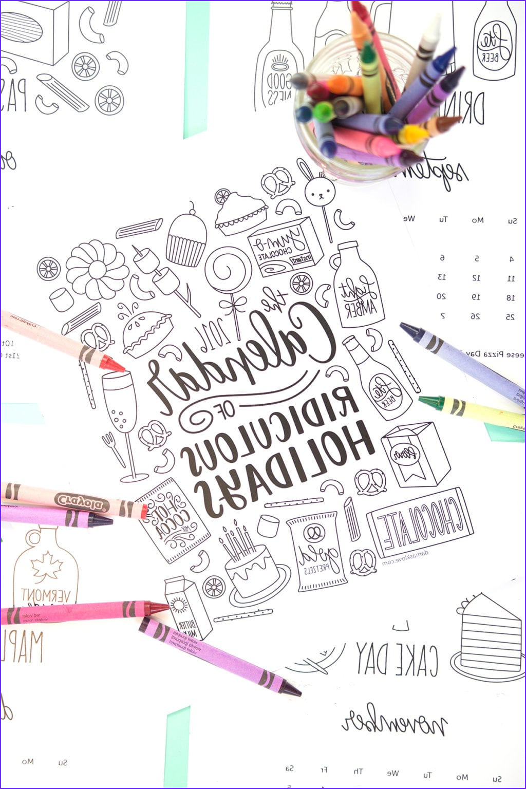 2016 Coloring Calendar Beautiful Images Free Printable Coloring Calendar Pages