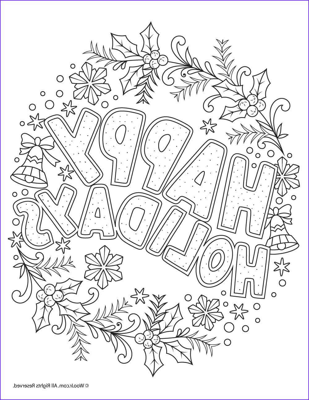 Adult Coloring Christmas Cool Stock Happy Holidays Adult Coloring Freebie