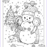 Adult Coloring Christmas Elegant Photos Free Christmas Coloring Page By Molly Harrison Snowman