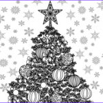 Adult Themed Coloring Book Elegant Stock Christmas Themed Adult Coloring Sheet — Craftbits
