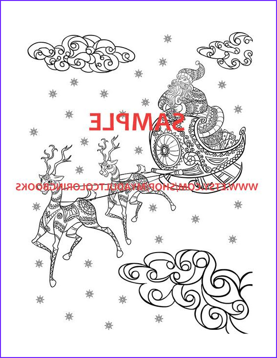 30 christmas themed coloring book pages