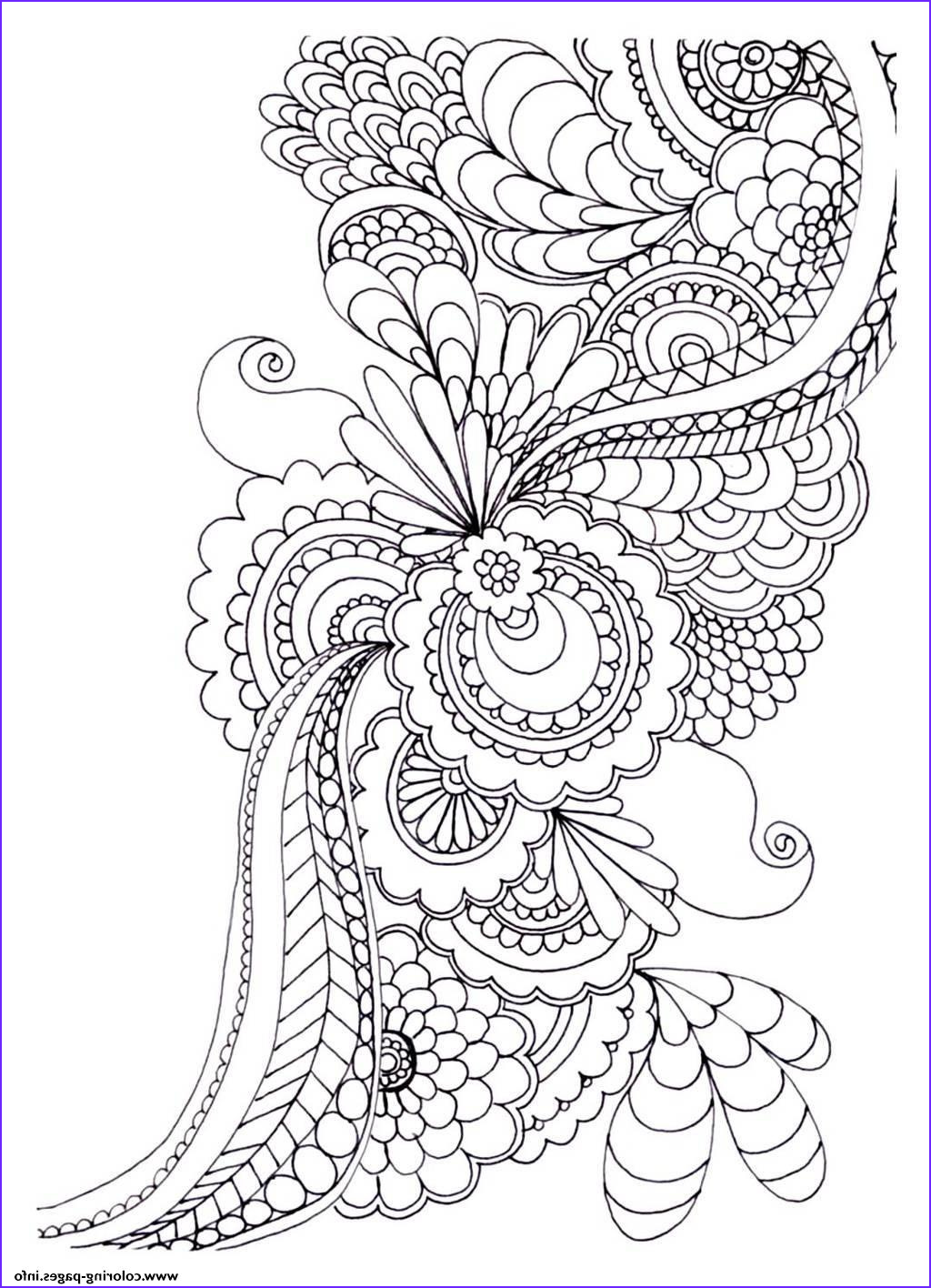 adult zen anti stress to print drawing flowers printable coloring pages book 3636