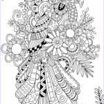 Adults Coloring Unique Stock Zentangle Parrot Adult Coloring Pages Printable