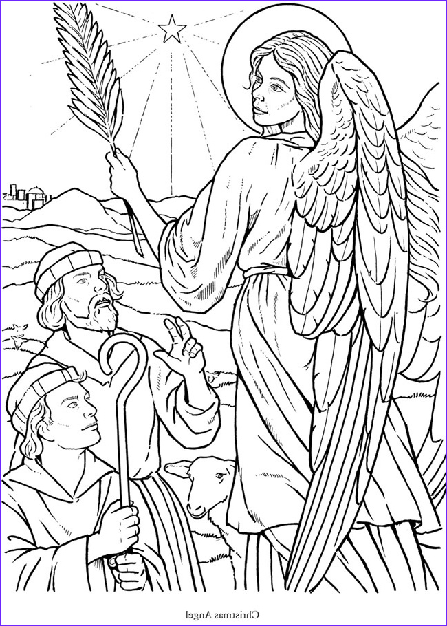 angel coloring book pages