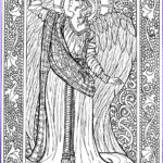 Angels Coloring Book Inspirational Image Angel Coloring Sheet Adult Coloring Sheet By