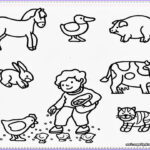 Animal Coloring Picture Elegant Photos Farm Coloring Pages For Preschool Coloring Home