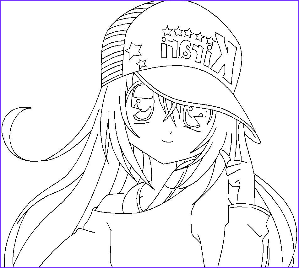 Anime Coloring Pages for Adults Beautiful Photos Anime Girl Coloring Pages Coloringsuite
