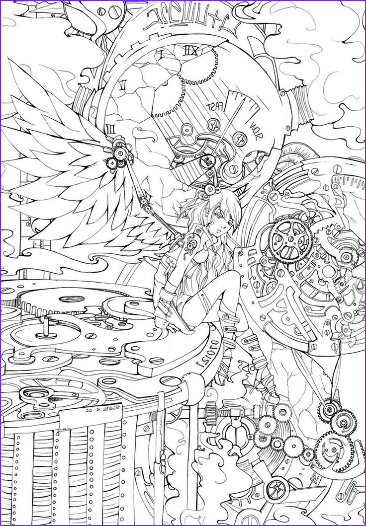 Anime Coloring Pages for Adults Unique Images Detailed Coloring Pages for Adults