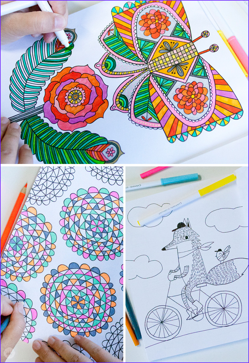 four new coloring books