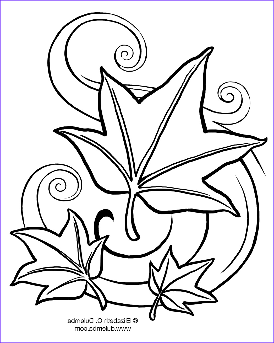 free fall coloring pages for kids