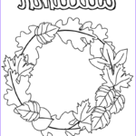 Autumn Coloring Pages Luxury Photos Fall Wreath Coloring Page