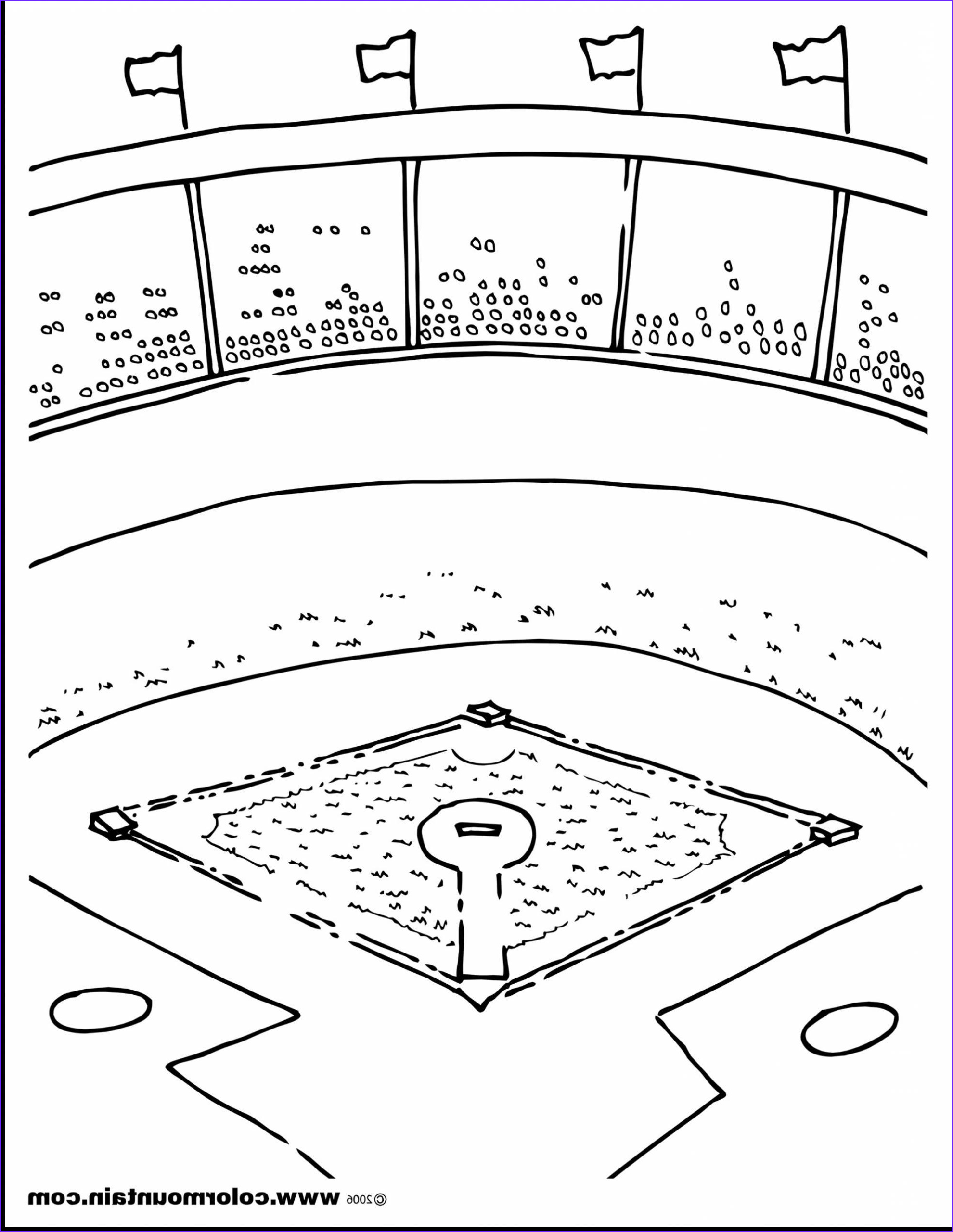 Baseball Field Coloring Page New Collection Baseball Diamond Drawing at Getdrawings
