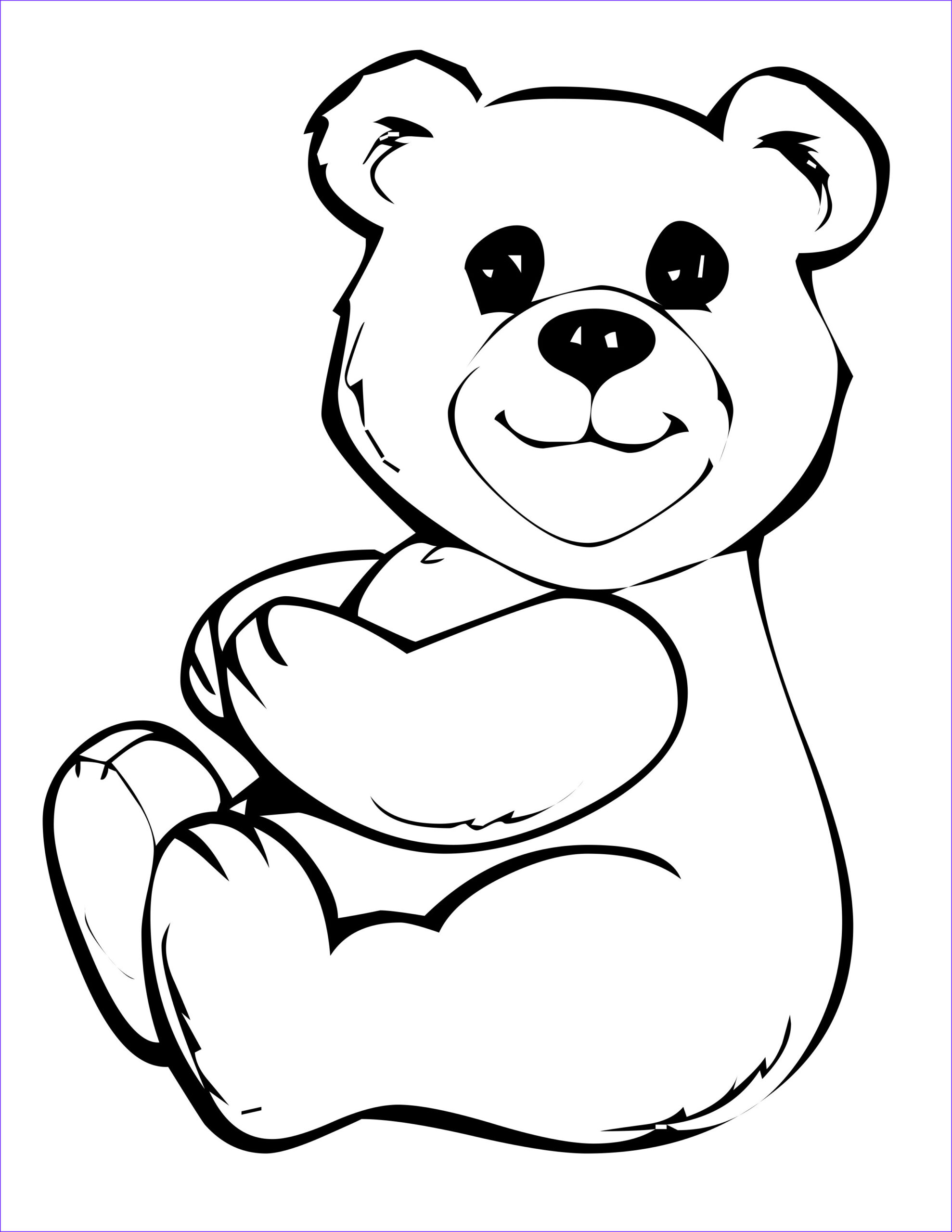 Bear Coloring Sheet Elegant Images Free Printable Teddy Bear Coloring Pages for Kids