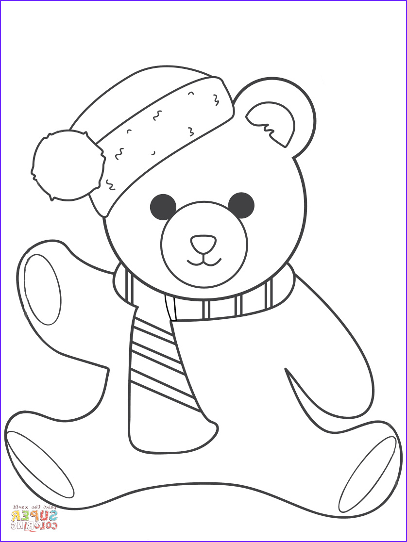 Bear Coloring Sheet Luxury Photos Christmas Teddy Bear Coloring Page