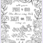 Bible Verses Coloring Pages For Adults Awesome Image God Of Hope Coloring Page Romans 15 13 Printable
