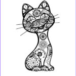 Cat Adult Coloring Book Best Of Images Cat Design Adult Coloring And Coloring Books On Pinterest