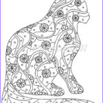 Cat Adult Coloring Book New Image Cat Coloring Page Coloring Pages Adult Coloring By