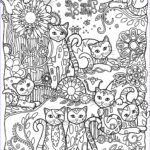 Cat Adult Coloring Book Unique Photos Coloring Page World