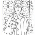 Catholic Coloring Books New Photos Saint Pope Leo The Great Coloring Page The Catholic Kid