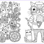 Cats Adult Coloring Book Best Of Gallery Posh Adult Coloring Book Cats & Kittens For Fort