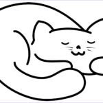 Cats Coloring Sheet Elegant Photos Sleeping Cat Coloring Page