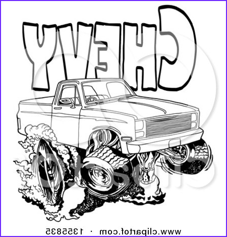 Chevrolet Coloring Best Of Photos Clipart Of A Cartoon Black and White Chevrolet Pickup