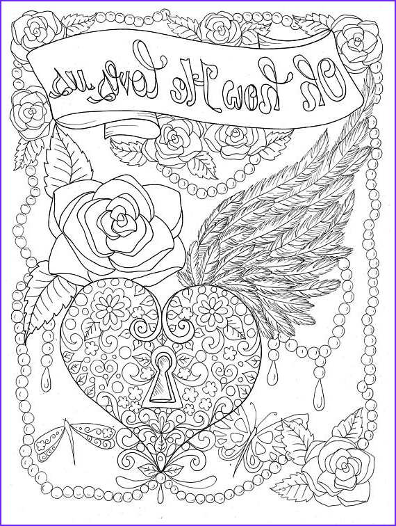 Christian Adult Coloring Pages Cool Collection Instant Download Digital Stamp Oh How He Loves Us Coloring