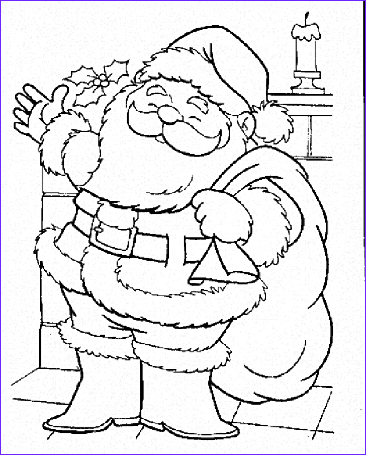 christmas with santa claus coloring pages for kids christmas