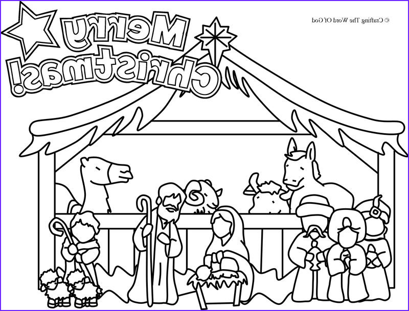 Christmas Nativity Coloring Pages Inspirational Photos Nativity Coloring Page Coloring Page Crafting the Word