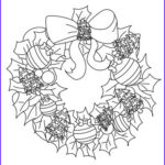Christmas Wreath Coloring Pages Beautiful Gallery Xmas Balls Wreath Coloring Pages Hellokids