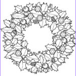 Christmas Wreath Coloring Pages Beautiful Images Christmas Wreath Printables