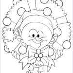 Christmas Wreath Coloring Pages Beautiful Photos Cartoon Guy Holding Christmas Wreath Coloring Page