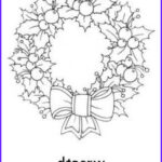 Christmas Wreath Coloring Pages Elegant Images Christmas Wreath Printables