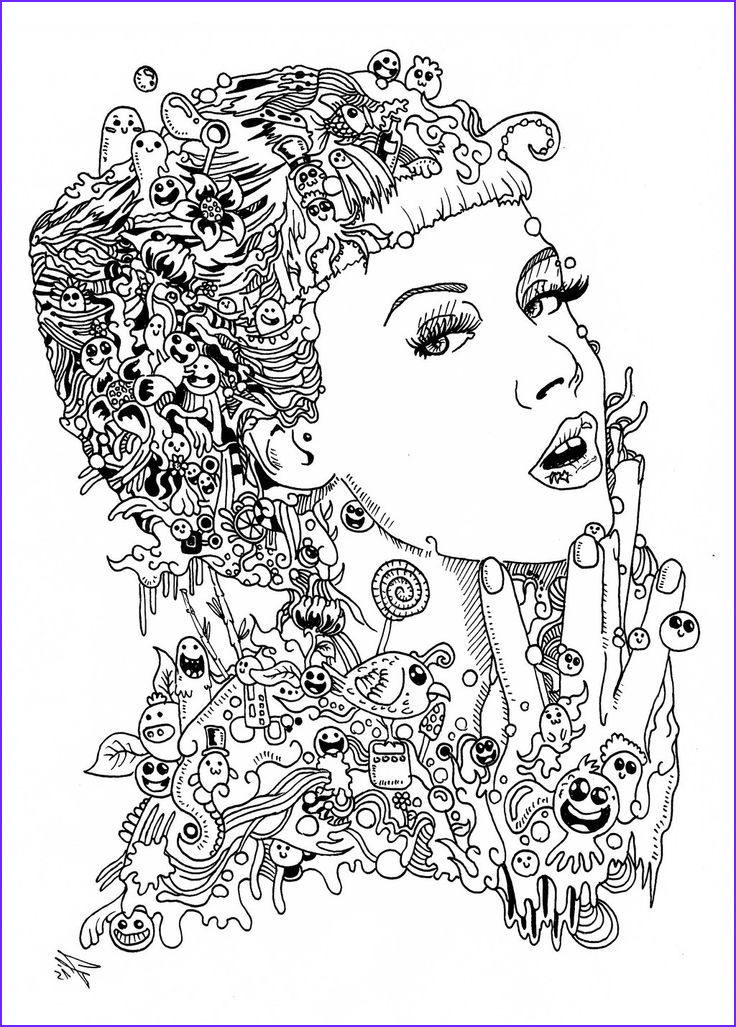 Coloring Book Art Beautiful Photos Related Image People Adult Colouring