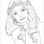 Coloring Books For Teen Inspirational Photos Fashion Coloring Page Girl With Flower Wreath Coloring Page